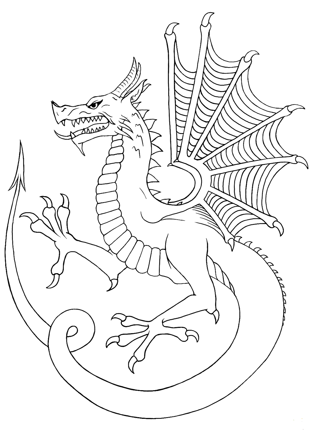 dragon coloring page coloring pages for adults difficult dragons at getdrawings coloring dragon page
