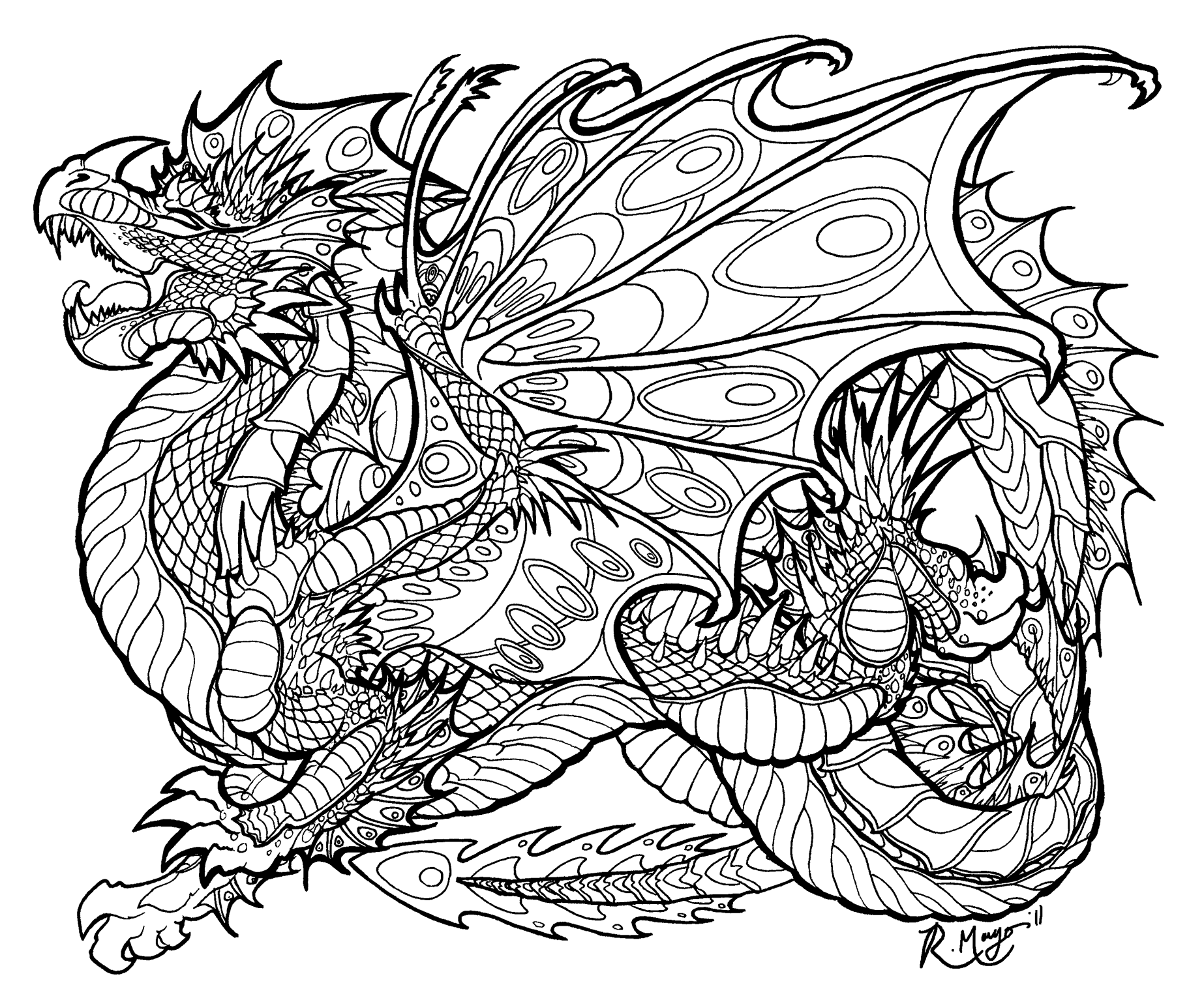dragon coloring page coloring pages for adults difficult dragons at getdrawings coloring page dragon