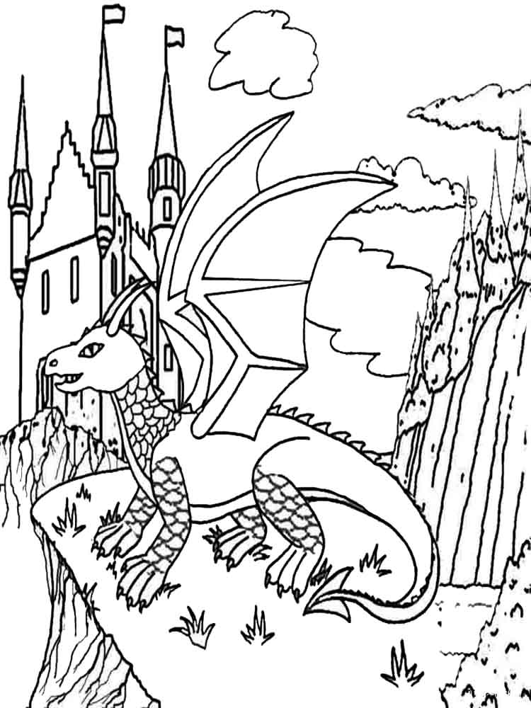 dragon coloring page dragons coloring pages download and print dragons dragon page coloring