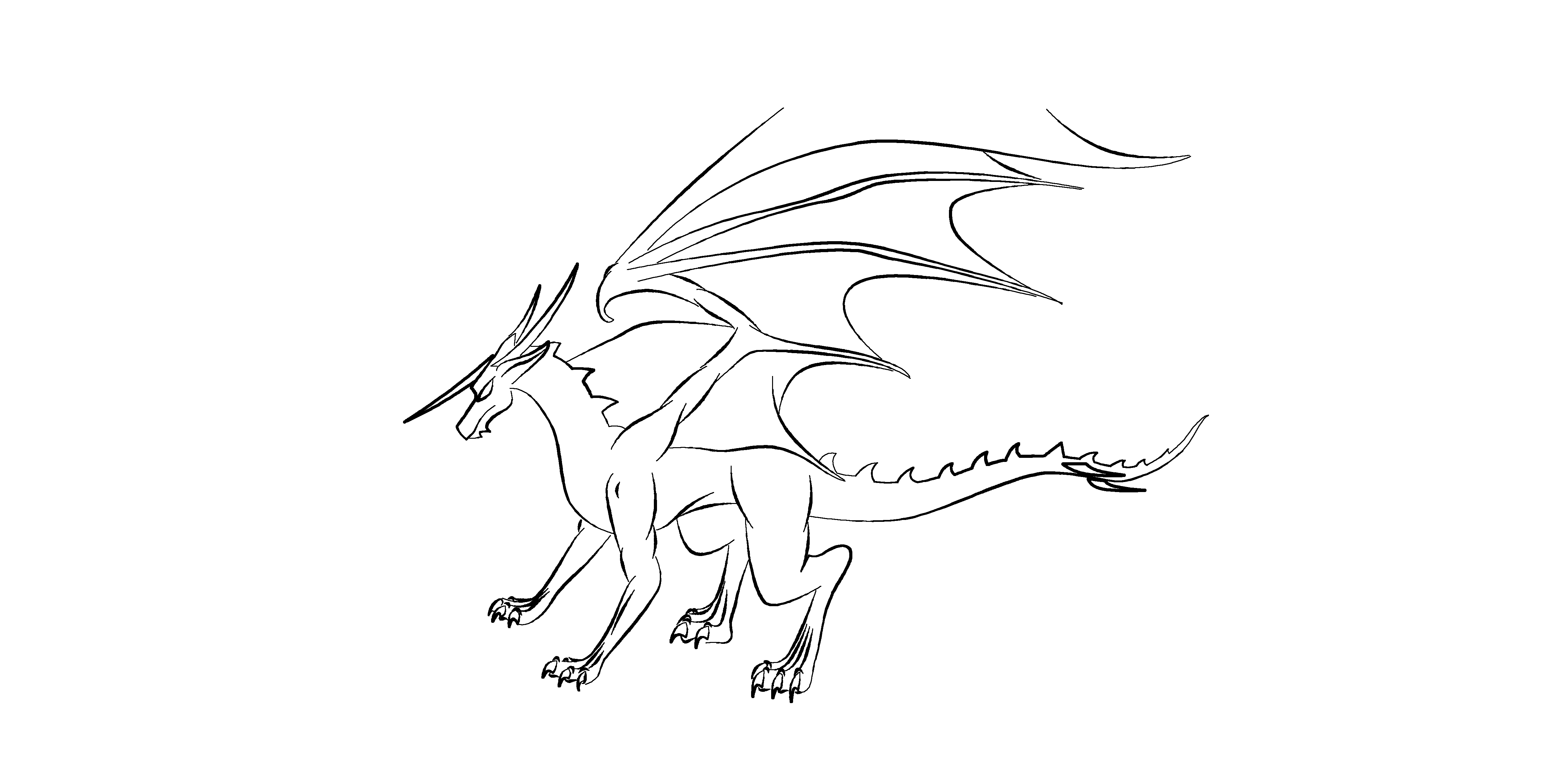 dragon outline dragon outline by sleay on newgrounds outline dragon