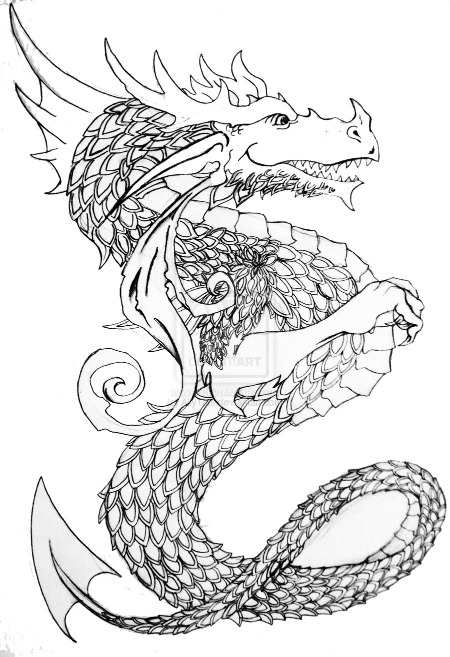 dragon outline dragon outlines for drawing at getdrawings free download outline dragon 1 1