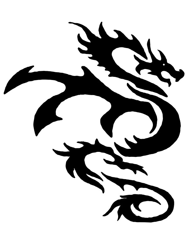 dragon outline quotdragon outlinequot stickers by michael hollinshead redbubble dragon outline
