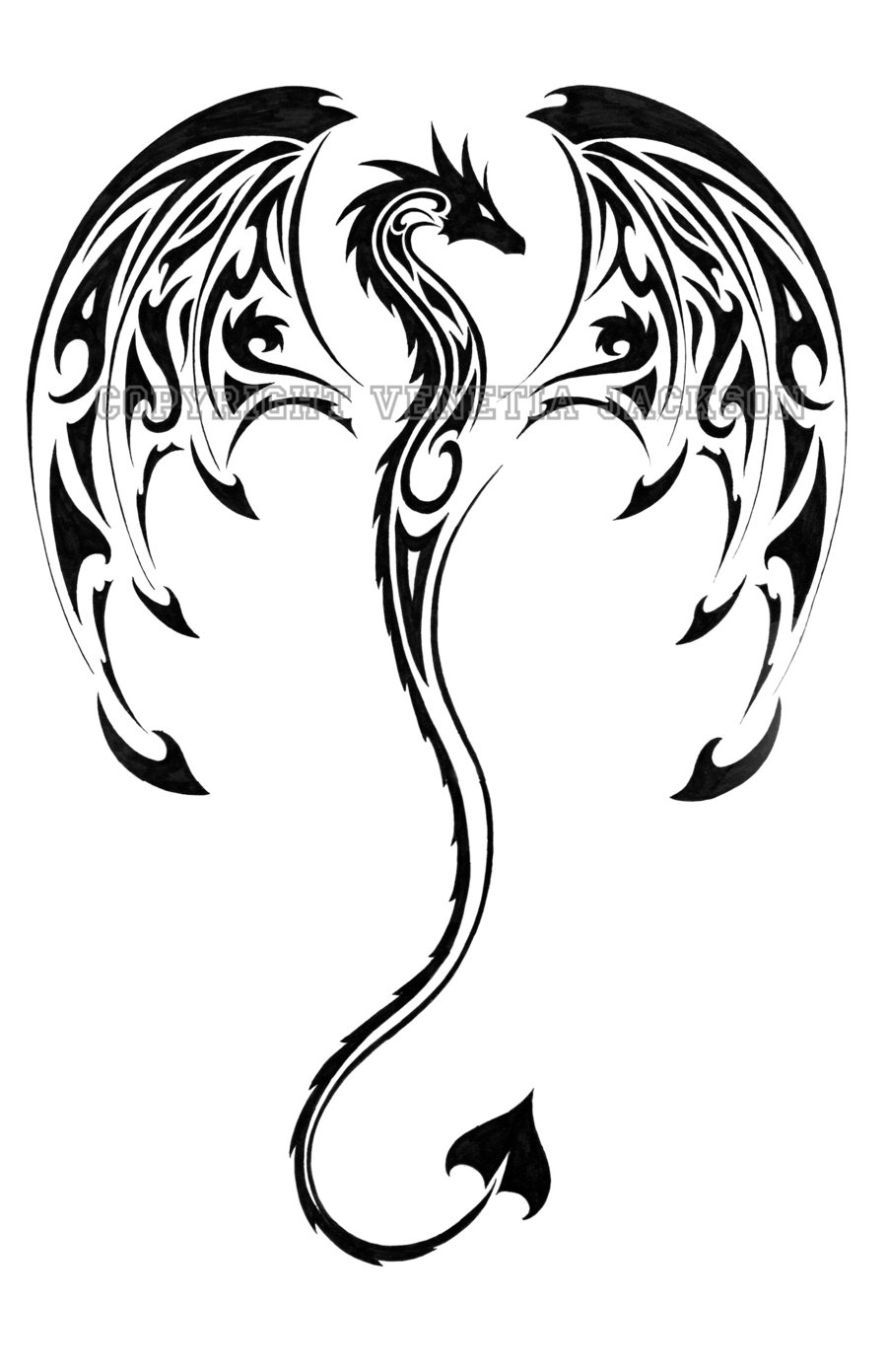 dragon outline simple dragon outline free download on clipartmag dragon outline