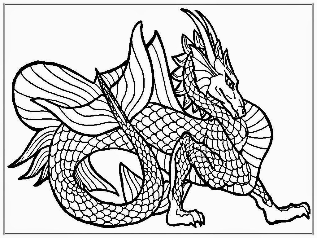 dragon printable dragon coloring pages for adults best coloring pages for printable dragon
