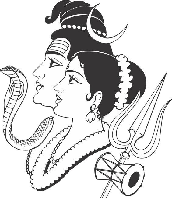 draw a god hindu gods free colouring pages god draw a