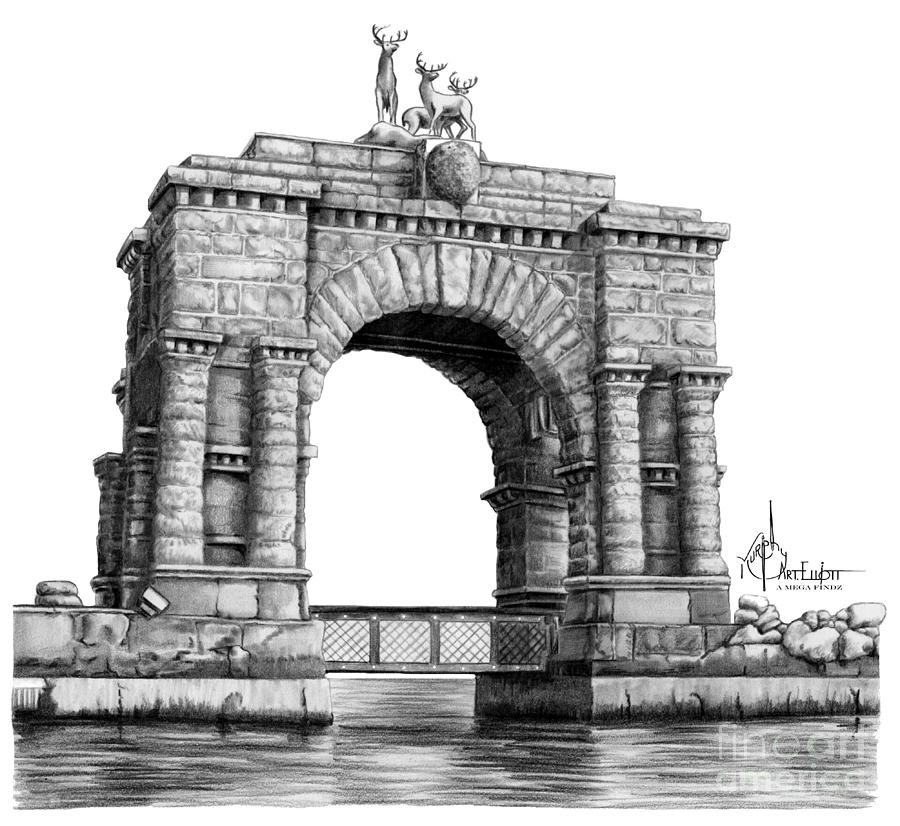 drawing castles arch at boldt castle drawing by murphy elliott castles drawing