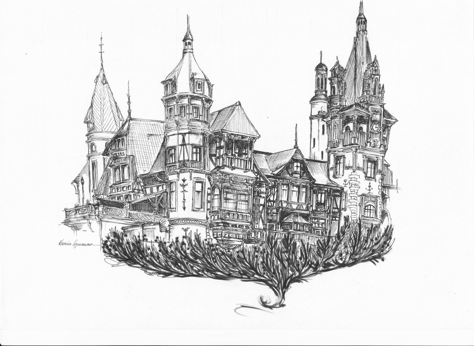 drawing castles boldt castle drawing by philip lee drawing castles