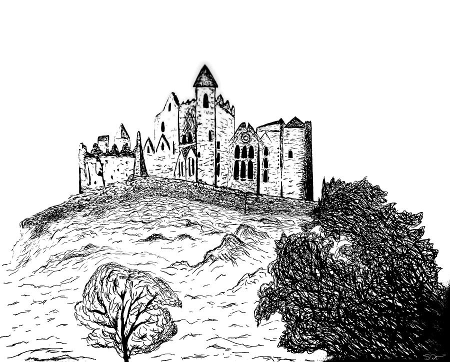 drawing castles caerphilly castle bw drawing by andrew read castles drawing