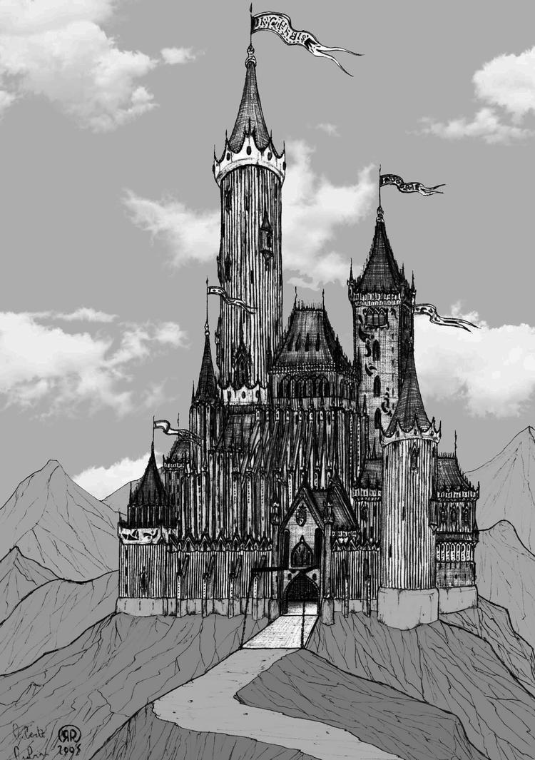 drawing castles castle 004 vector draw sketch image for your diy project drawing castles