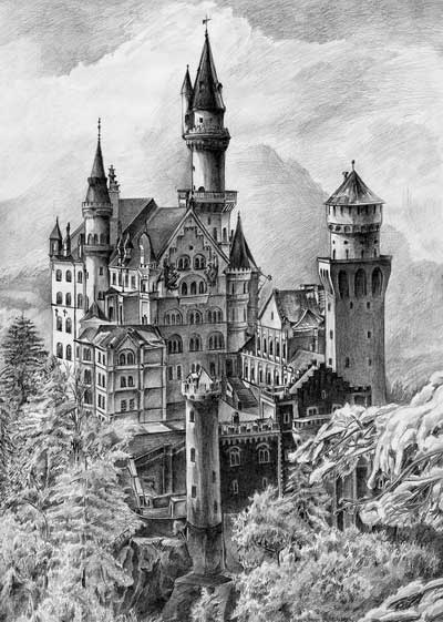 drawing castles castle drawing pencil sketch colorful realistic art drawing castles