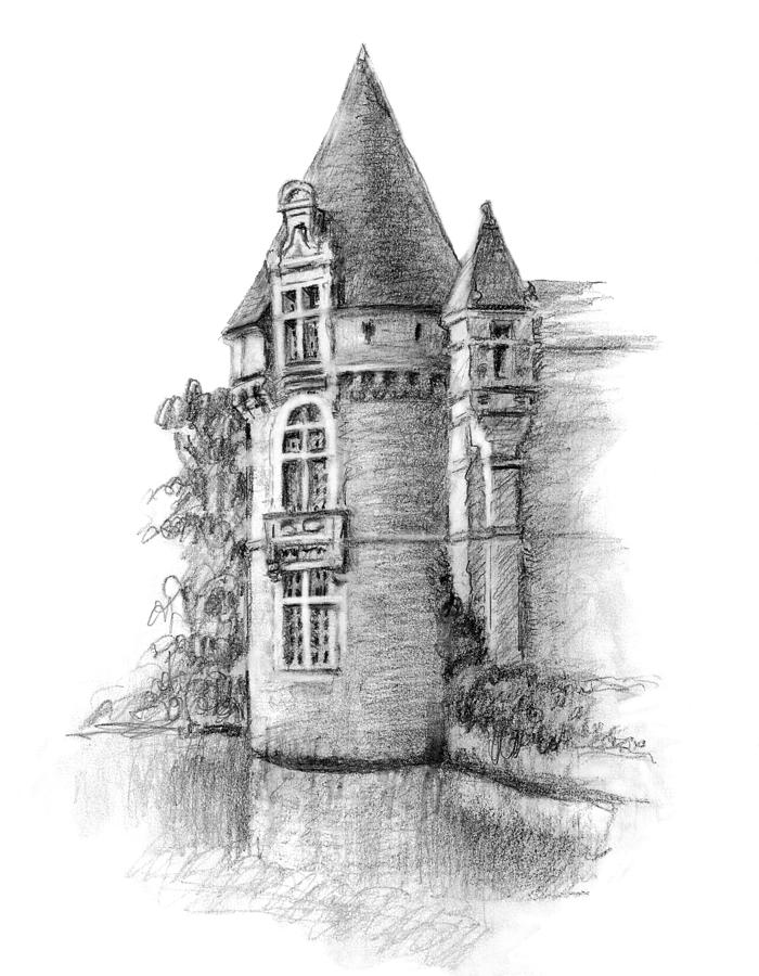 drawing castles chateau tower drawing by sarah parks drawing castles
