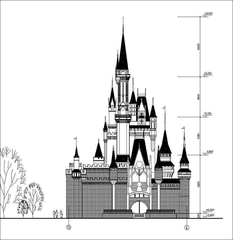 drawing castles dream castle cad drawings 2 free autocad blocks drawing castles