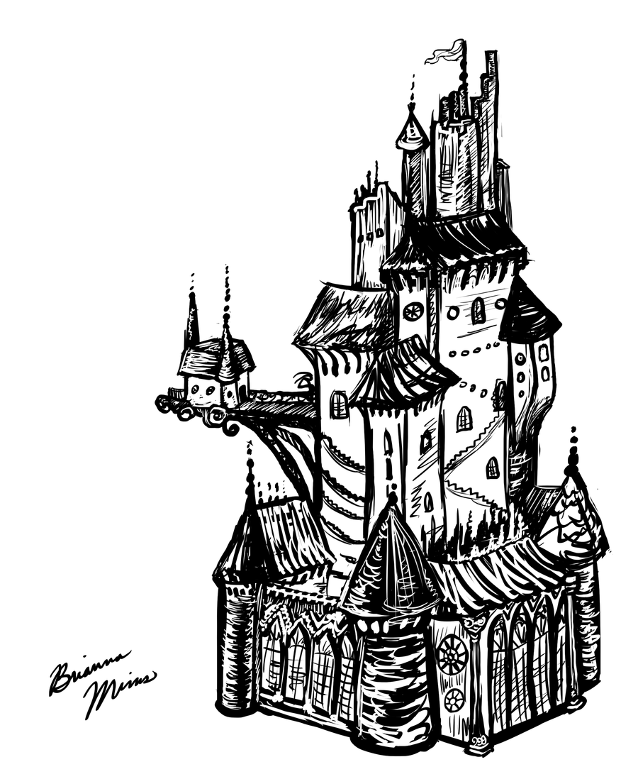 drawing castles fantasy castle drawing at getdrawings free download drawing castles