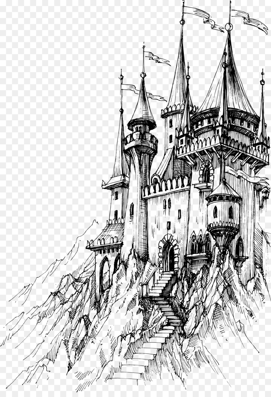 drawing castles how to draw a medieval castle step by step buildings castles drawing