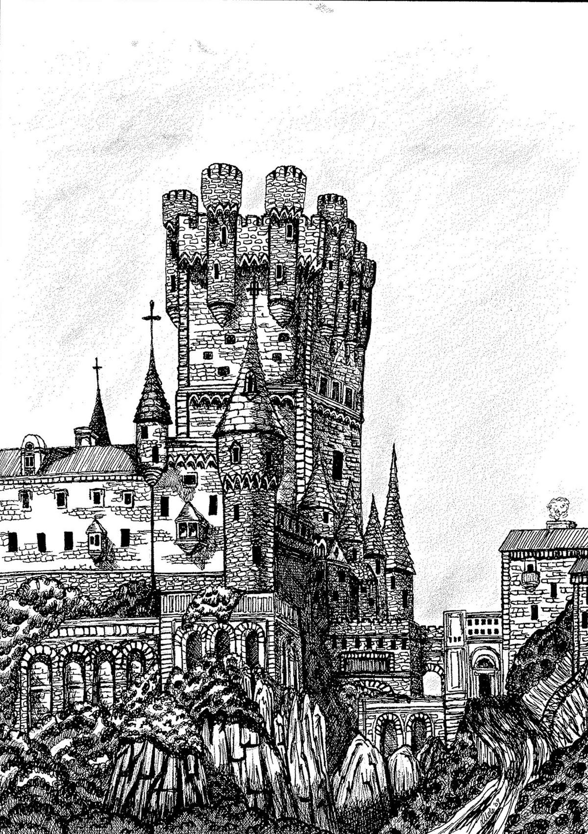 drawing castles pencil drawings charcoal drawings and art galleries drawing castles