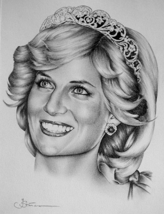 drawing of a princess pencil drawing from princess diana art collection princess drawing of a