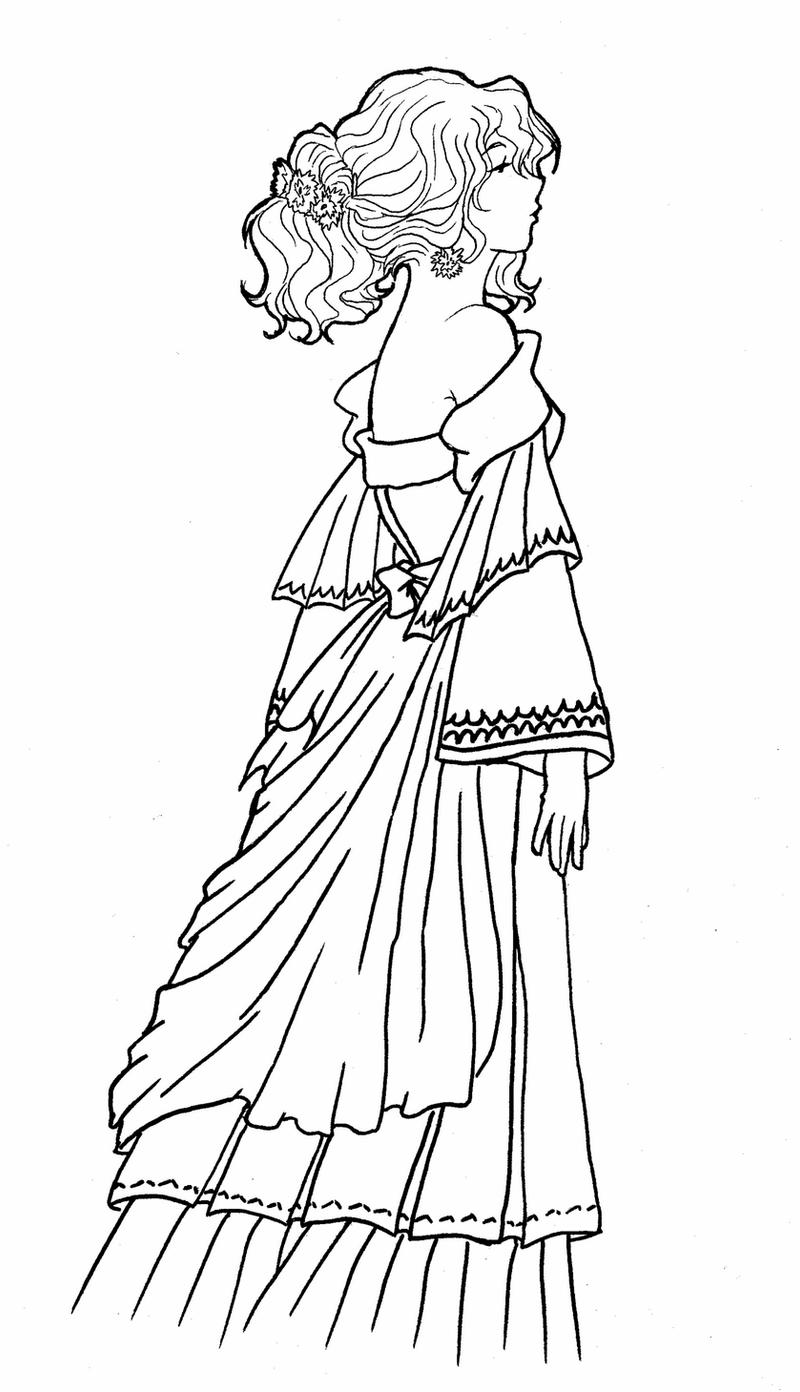 drawing of a princess princess lineart 1 by atelierdereve on deviantart of princess a drawing