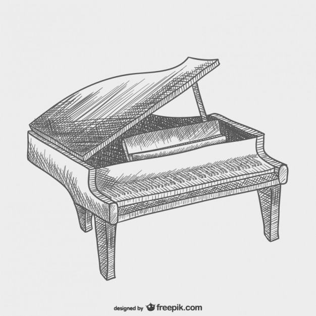 drawing piano 8 excellent coloriage piano images with images musical piano drawing