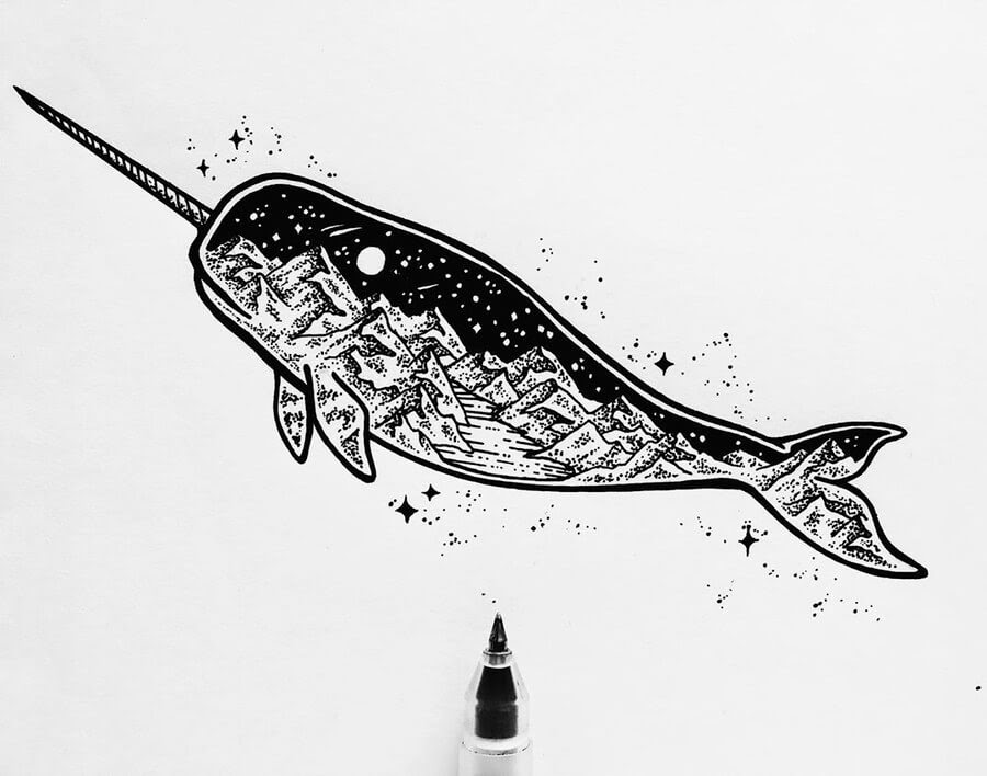 drawings of narwhals vintage sea clip art narwhals the graphics fairy of drawings narwhals