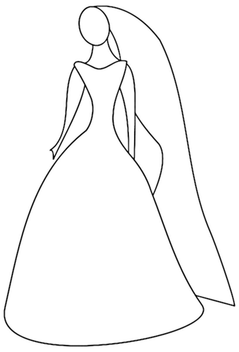 dress clipart coloring beautiful dress coloring pages and pictures for adults and dress clipart coloring