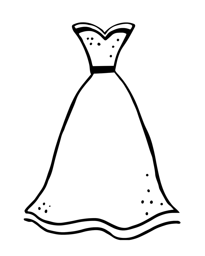 dress clipart coloring dress coloring pages free download on clipartmag dress coloring clipart