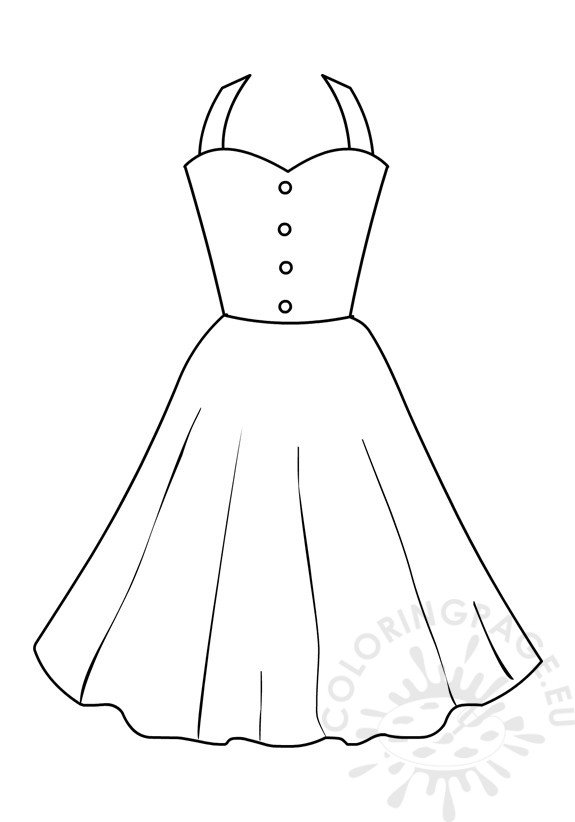 dress clipart coloring dress coloring pages getcoloringpagescom coloring clipart dress