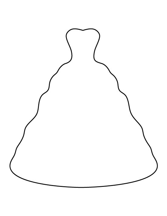 dress clipart coloring pin on printable patterns at patternuniversecom coloring dress clipart