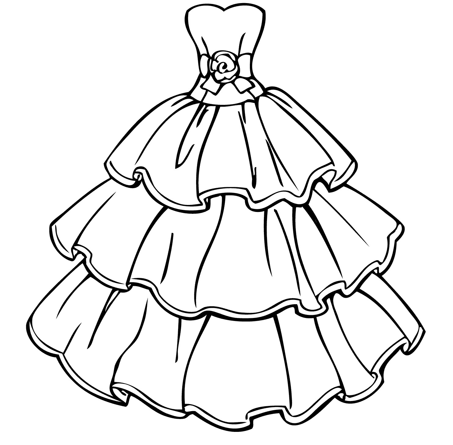 dress colouring pages light dress coloring page for girls printable free colouring dress pages