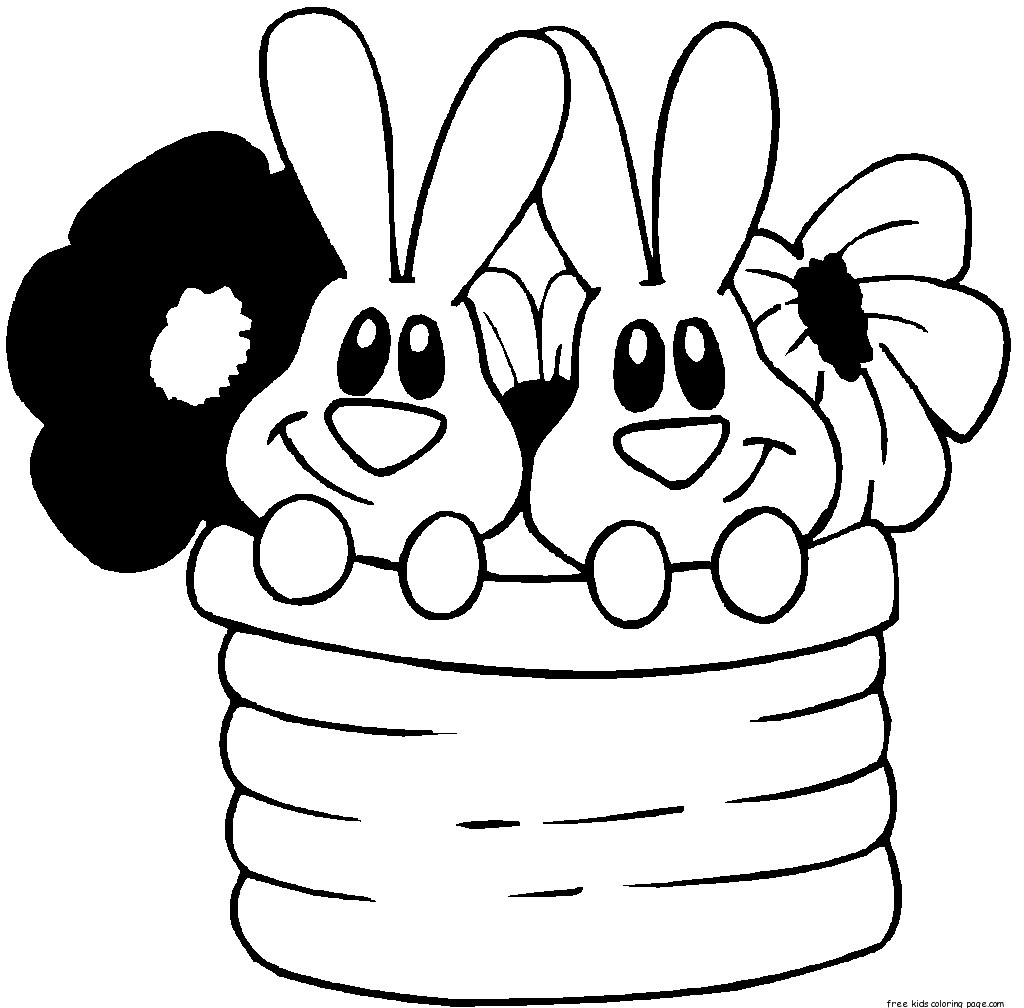 easter bunny to print easter bunny outline coloring home easter to print bunny