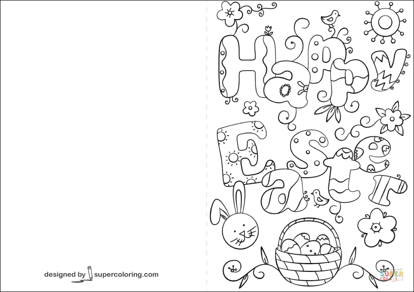 easter cards colouring a happy easter card coloring page free printable colouring easter cards