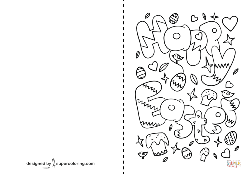 easter cards colouring happy easter doodle card coloring page free printable easter cards colouring