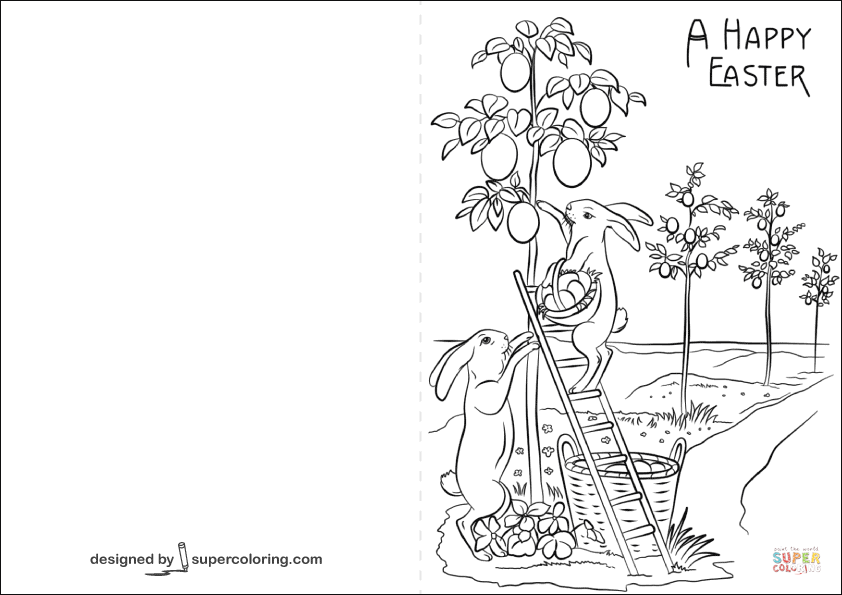 easter cards colouring printable easter card and gift tag templates reader39s digest cards colouring easter
