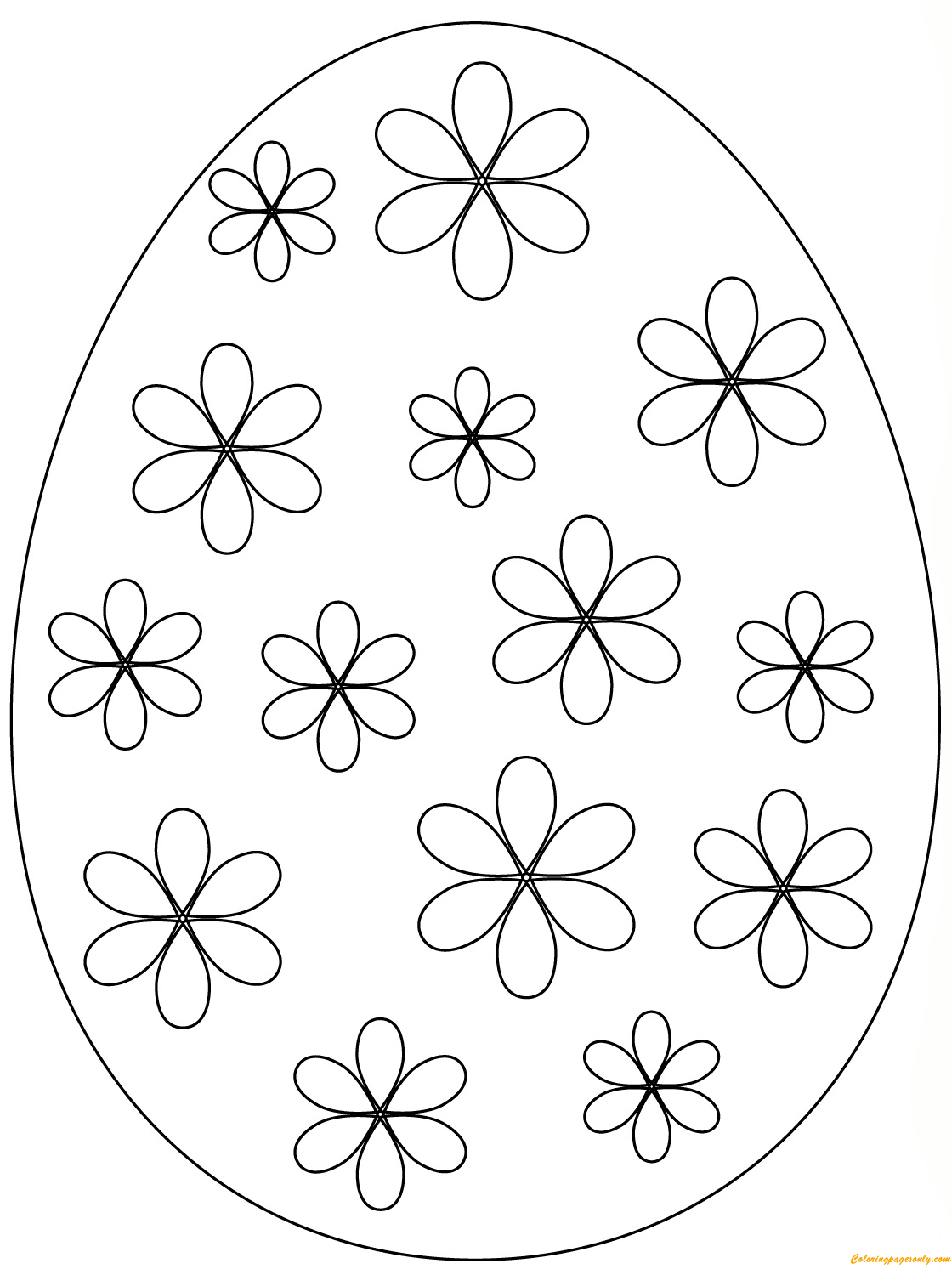 easter eggs coloring page easter egg simple flowers coloring page free coloring coloring eggs page easter
