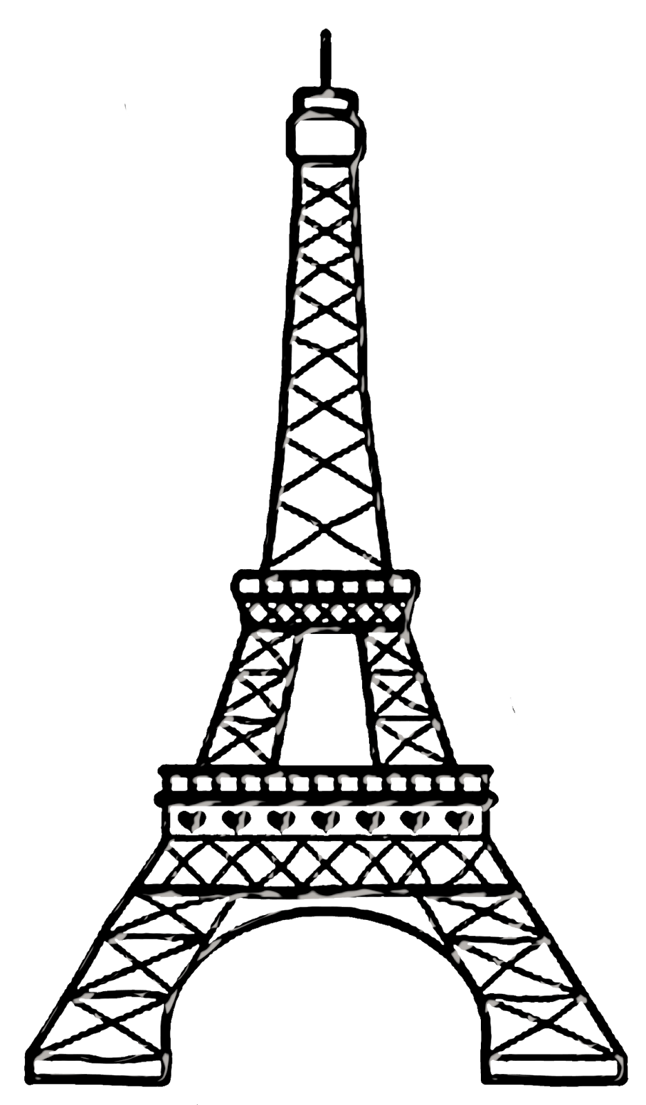 easy eiffel tower drawing eiffel tower black and white drawing at paintingvalleycom easy drawing tower eiffel
