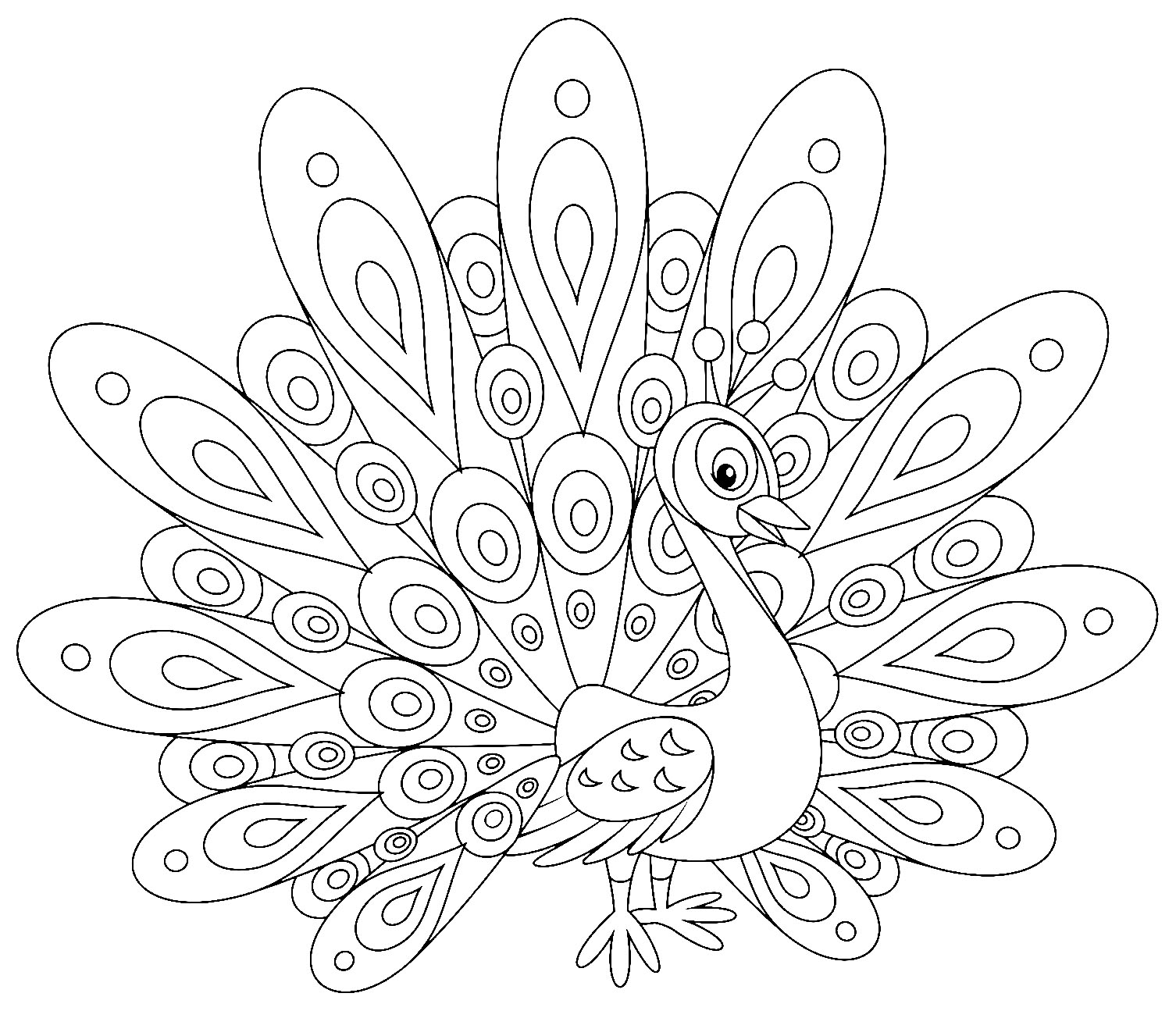 easy printable peacock coloring pages free printable peacock coloring pages for kids easy pages coloring peacock printable