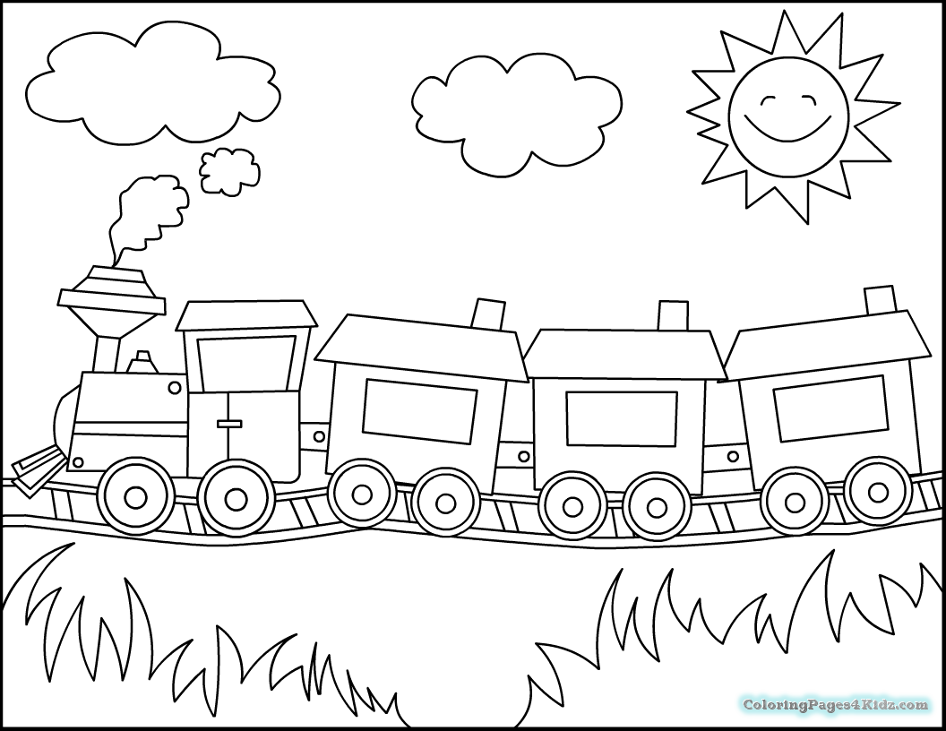 easy train coloring pages train tracks coloring pages divyajananiorg pages easy train coloring