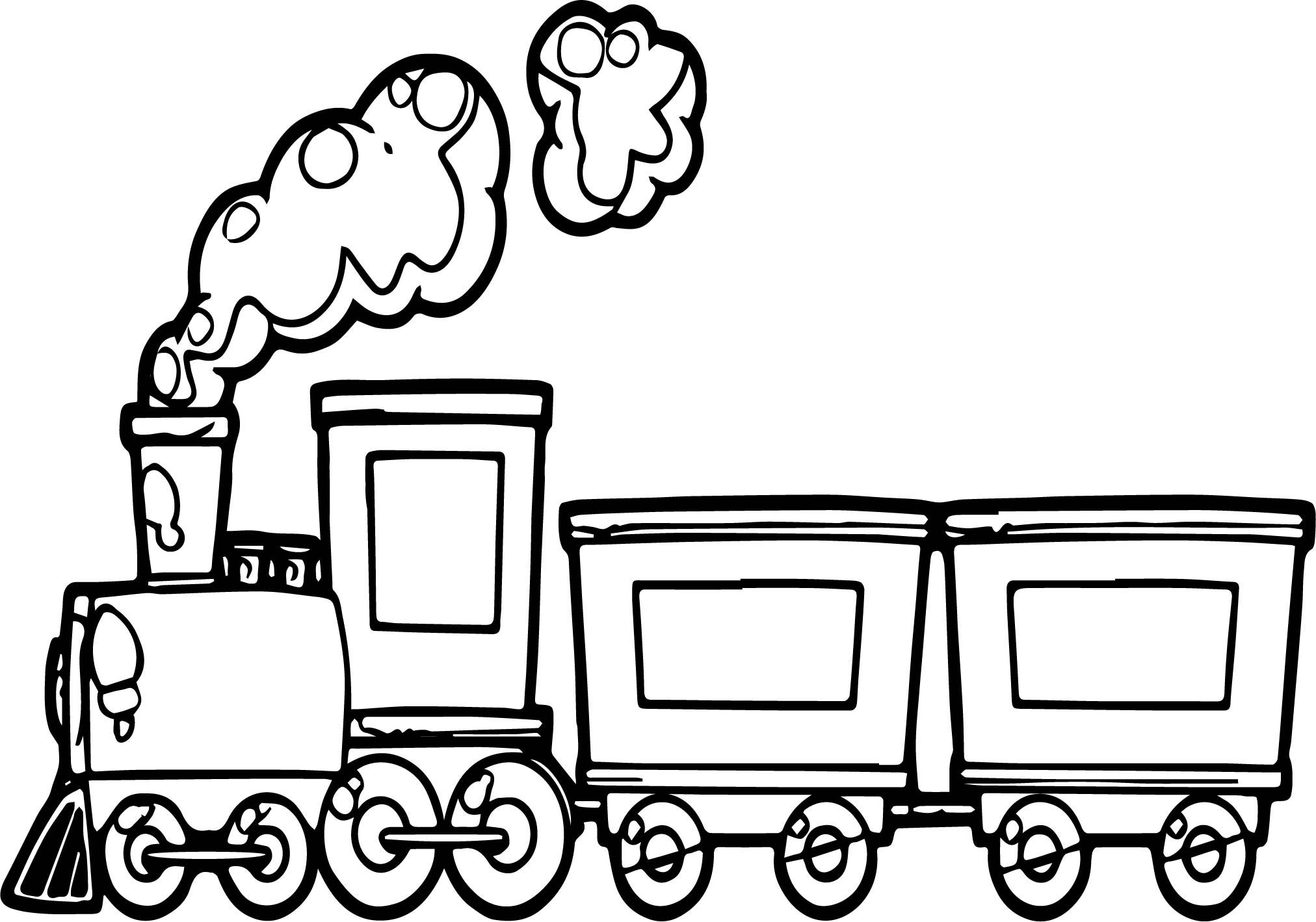 easy train coloring pages train with two carriages coloring page free printable train coloring easy pages