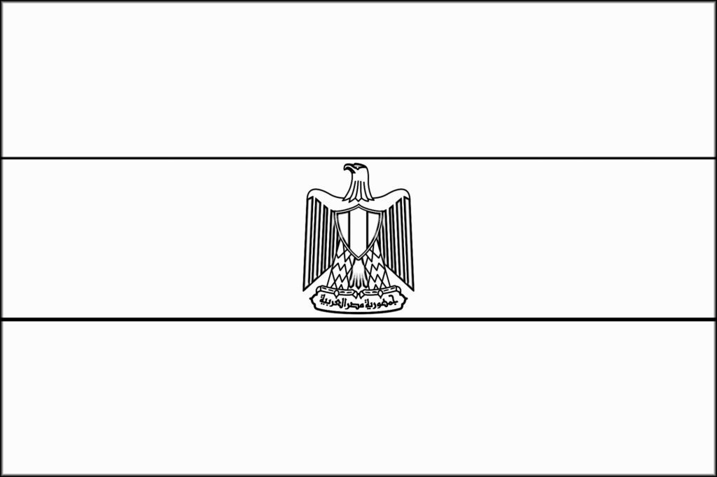 egypt flag coloring coloring page flag of egypt drawing outline vectors flag coloring egypt