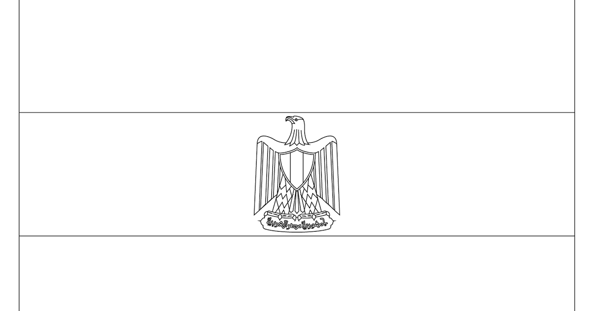 egyptian flag coloring page coloring page flag of egypt drawing outline vectors flag egyptian coloring page