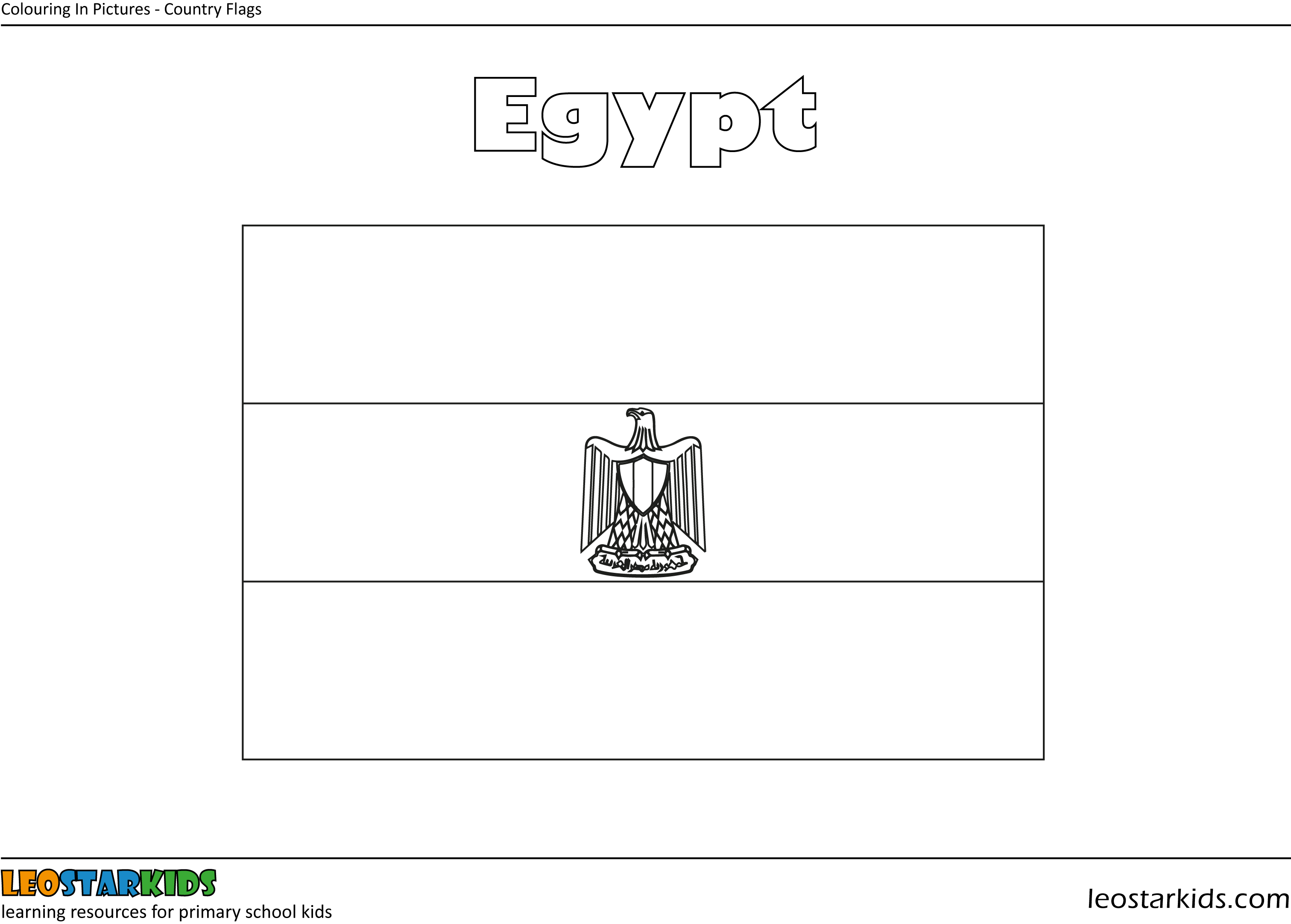 egyptian flag coloring page colouring in egypt flag leostarkids flag egyptian coloring page