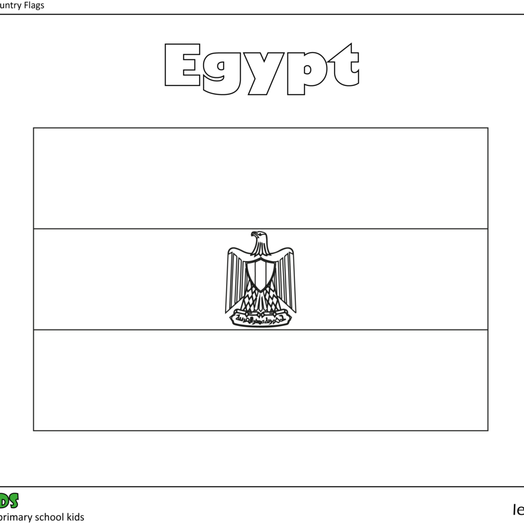 egyptian flag coloring page colouring in egypt flag leostarkids flag page egyptian coloring