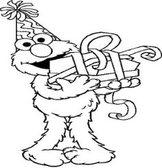 elmo 1st birthday coloring pages happy birthday elmo coloring page free sesame street birthday elmo coloring 1st pages
