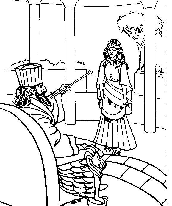esther coloring pages ester bible story coloring page esther pinterest esther pages coloring