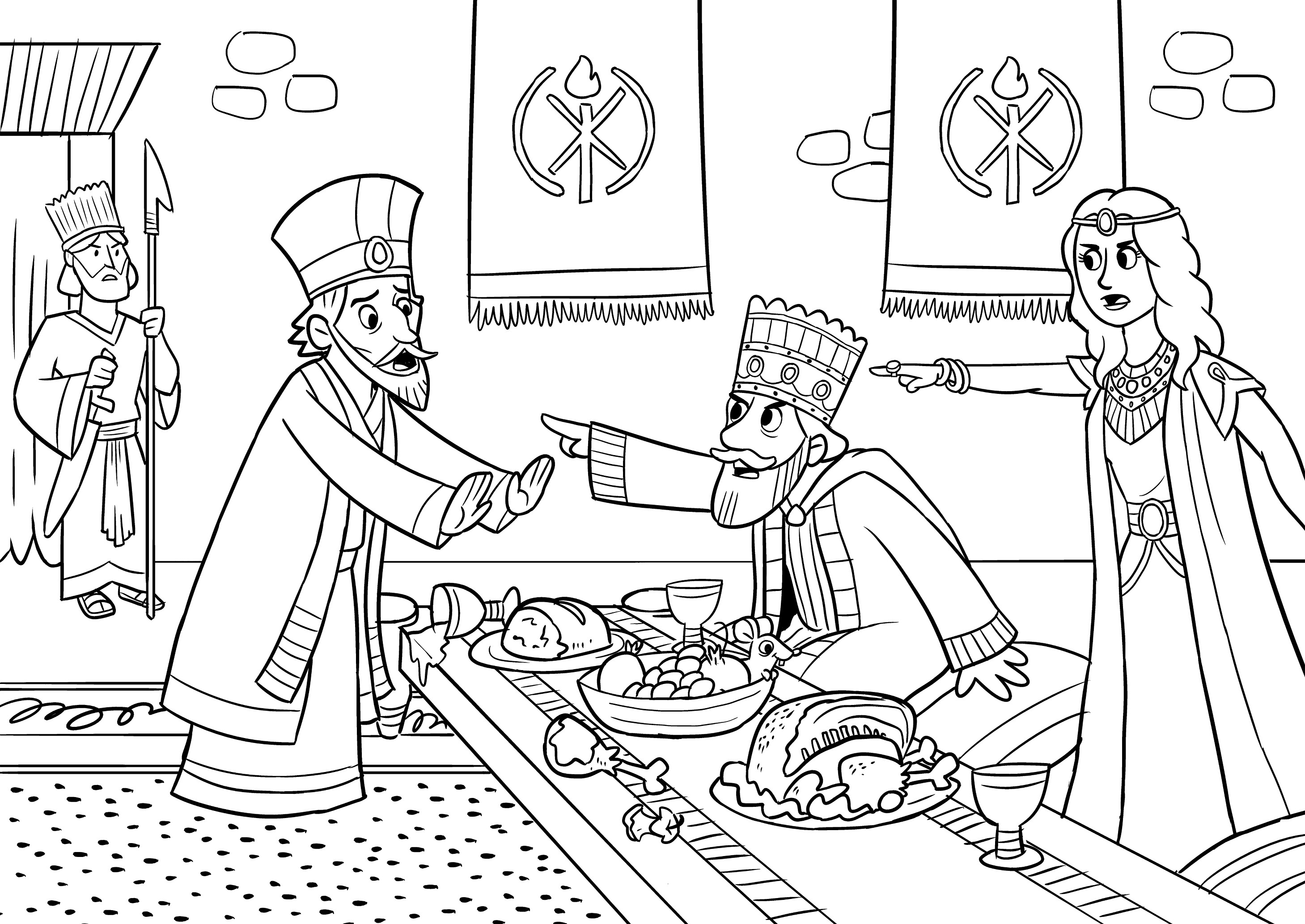 esther coloring pages esther accusing haman super coloring bible stories esther pages coloring