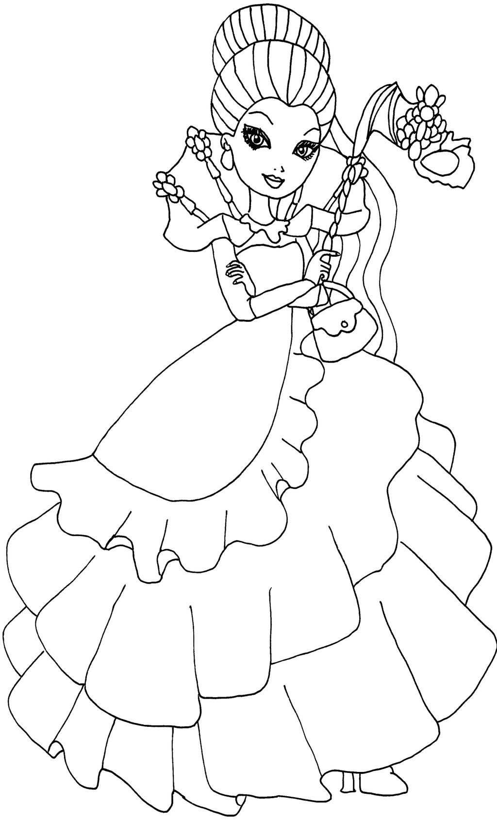 ever after high coloring pages ever after high coloring pages by elfkena on deviantart pages ever after high coloring