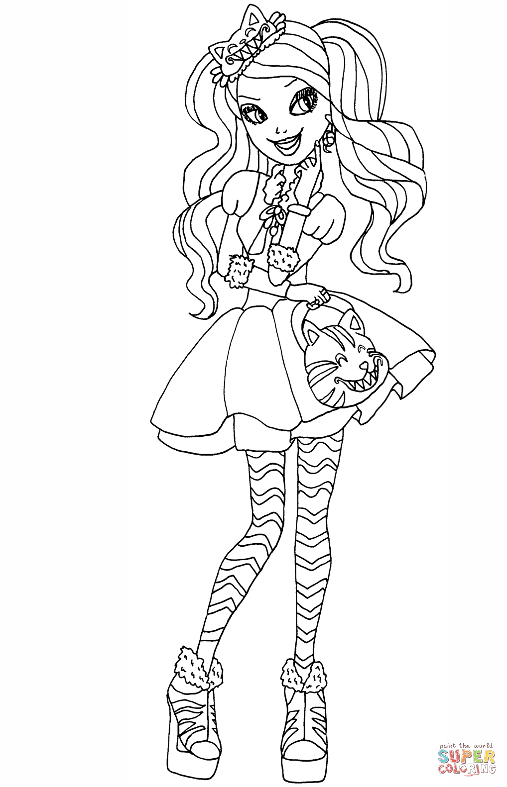 ever after high coloring pages ever after high kitty cheshire coloring page free ever pages after high coloring