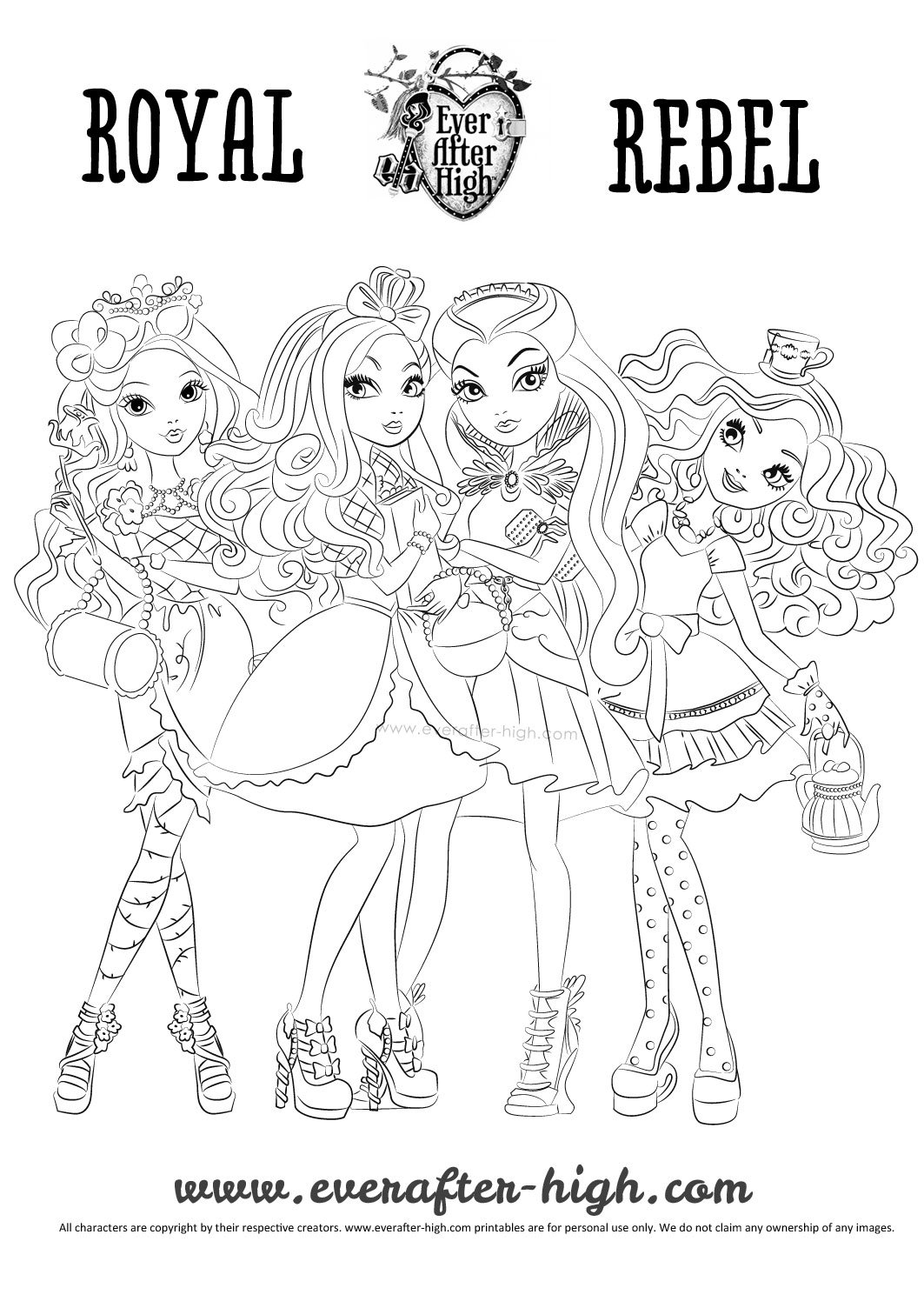 ever after high coloring pages ever after high raven madeline briar and apple coloring high pages after ever coloring