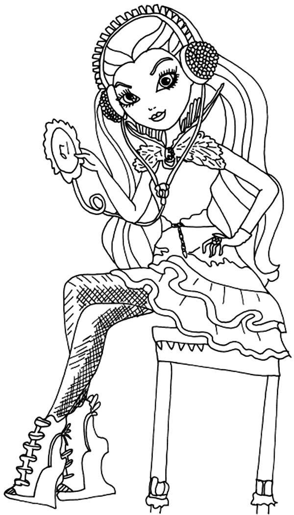 ever after high coloring pages ever after high raven queen listening song from diskman coloring high pages after ever