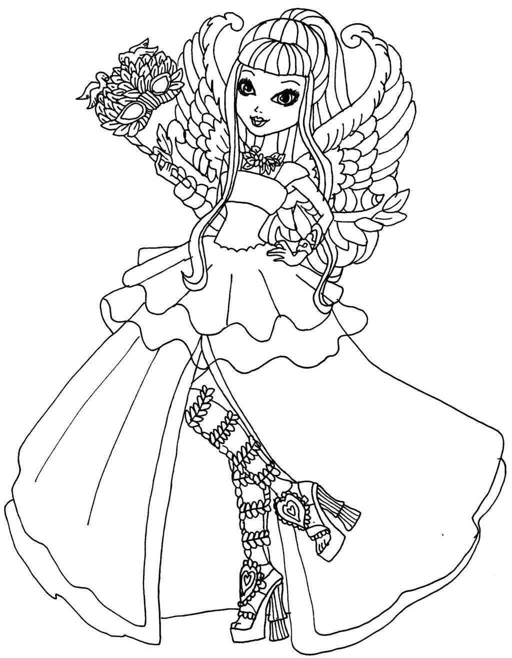 ever after high coloring pages raven queen coloring page at getdrawings free download after coloring pages ever high