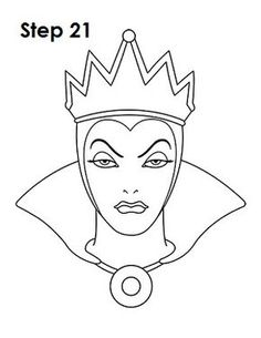 evil queen coloring pages how to draw evil queen disney villain drawingnow evil coloring queen pages